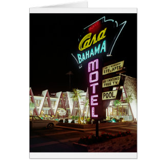 Casa Bahama Motel in Wildwood, New Jersey, 1960's Card