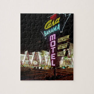 Casa Bahama Motel in Wildwood, New Jersey, 1960's Jigsaw Puzzle