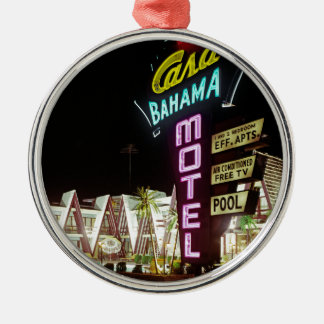 Casa Bahama Motel in Wildwood, New Jersey, 1960's Metal Ornament