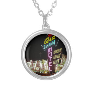 Casa Bahama Motel in Wildwood, New Jersey, 1960's Silver Plated Necklace