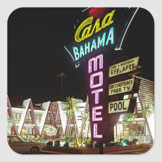 Casa Bahama Motel in Wildwood, New Jersey, 1960's Square Sticker