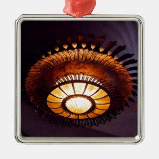Casa Batllo interiour chandellier Silver-Colored Square Ornament