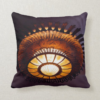 Casa Batllo interiour chandellier Throw Pillow
