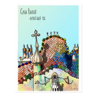 Casa Batlló Postcard