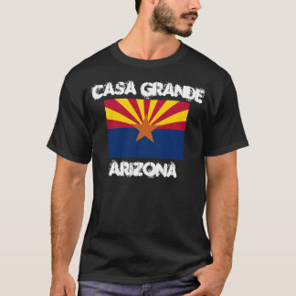 Casa Grande, Arizona with Arizona State Flag T-Shirt