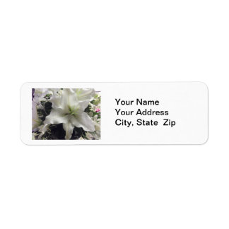 Casablanca Lily Flower Return Address Label