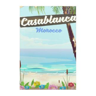 Casablanca Morocco, romantic vintage poster Acrylic Print