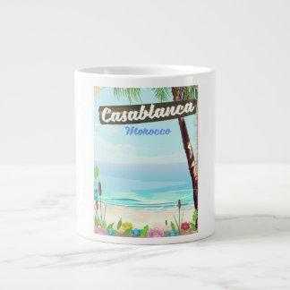 Casablanca Morocco, romantic vintage poster Large Coffee Mug