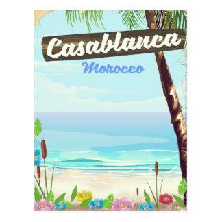 Casablanca Morocco, romantic vintage poster Postcard