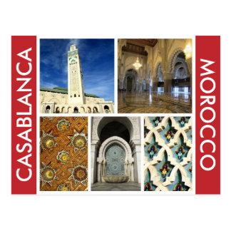 casablanca scenes postcard