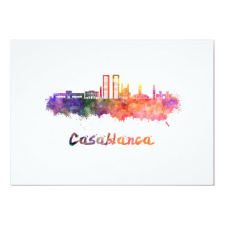 Casablanca V2 skyline in watercolor Card