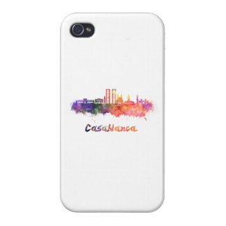 Casablanca V2 skyline in watercolor iPhone 4 Cover