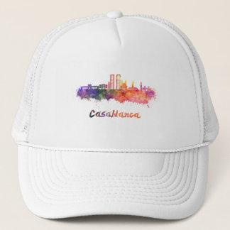 Casablanca V2 skyline in watercolor Trucker Hat
