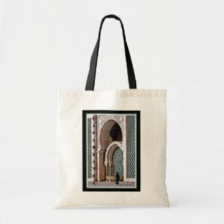 Casablanca--Woman at Mosque Tote Bag