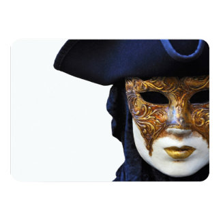 Casanova Venice Carnival Theater Mask Invitation