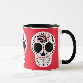 CasaQ Aztec Eagle Calavera Coffee Mug