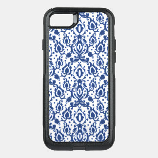 Casbah Moroccan Damask Blue and White OtterBox Commuter iPhone 7 Case