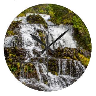 Cascada del Toro Large Clock
