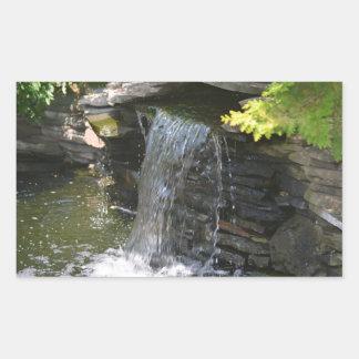 cascade autocollant en rectangle