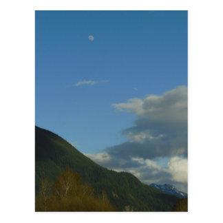 Cascade Daytime Moon Postcard