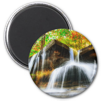 Cascade Falls 2 Inch Round Magnet