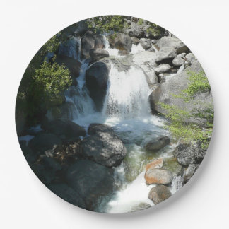 Cascade Falls at Yosemite National Park 9 Inch Paper Plate