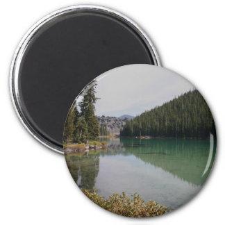 Cascade Mountains, Devils Lake, Oregon 2 Inch Round Magnet
