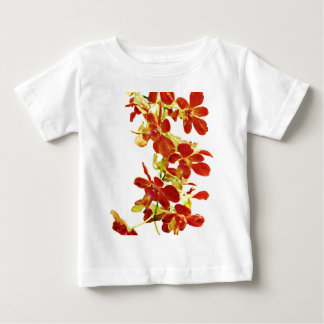 Cascade of Orange Orchids Baby T-Shirt