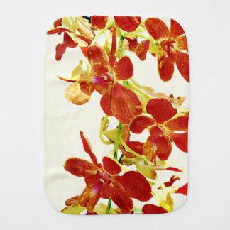 Cascade of Orange Orchids Burp Cloth