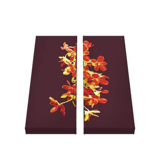 Cascade of Orange Orchids Canvas Print