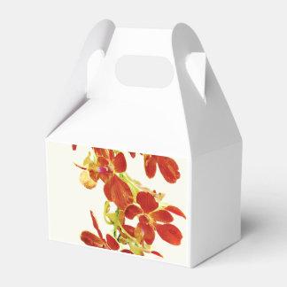 Cascade of Orange Orchids Favor Box