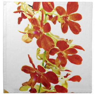 Cascade of Orange Orchids Napkin