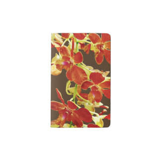 Cascade of Orange Orchids Pocket Moleskine Notebook