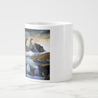 Cascade of paine large coffee mug