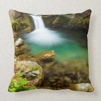 Cascade on Hare Creek, California Throw Pillow