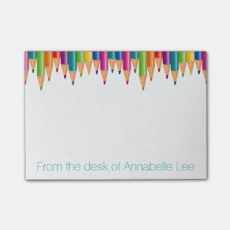 Cascade Rainbow Pencils Post-it® Notes