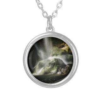 Cascade Round Pendant Necklace