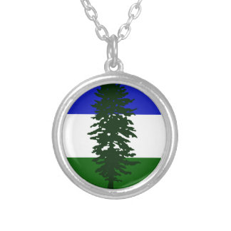 Cascadia Flag Silver Plated Necklace