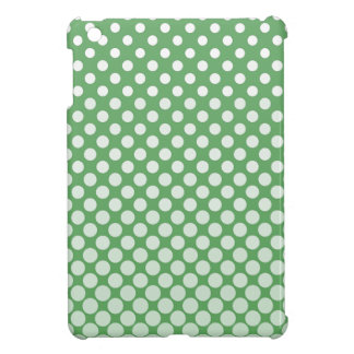 Cascading big to small white circles lime green iPad mini cases