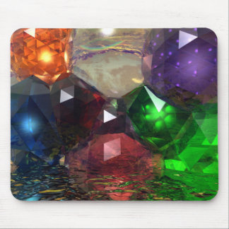 Cascading Gems Mouse Pad