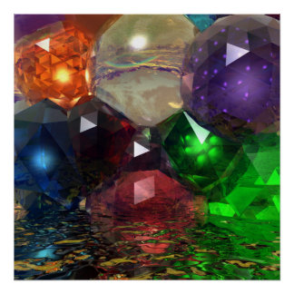 Cascading Gems Poster