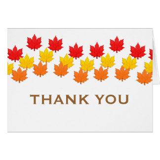 Cascading Leaves Fall Wedding Thank You Card