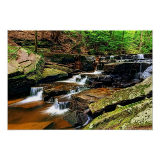 Cascading Waterfall 19x13 Poster