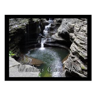 Cascading Waterfalls Green Pool Postcard