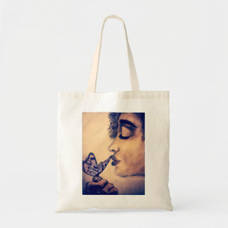 case girl with the butterfly budget tote bag