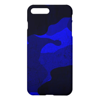 Case Savvy iPhone 7 Plus Matte Case-Camo Blue