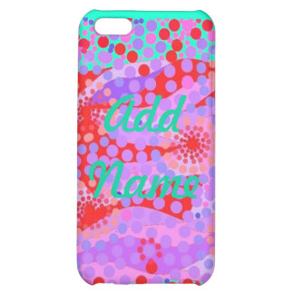 Case Savvy Matte Finish iPhone 5C abstract design. iPhone 5C Covers