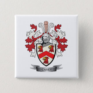 Casey Coat of Arms 2 Inch Square Button