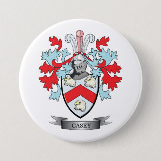 Casey Family Crest and Coat of Arms 3 Inch Round Button