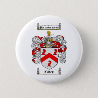 CASEY FAMILY CREST -  CASEY COAT OF ARMS 2 INCH ROUND BUTTON